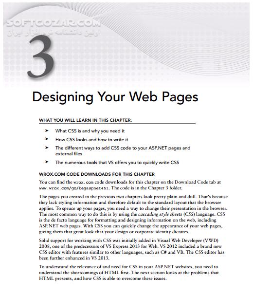 Beginning ASP NET 4 5 1 in Csharp and VB تصاویر نرم افزار  - سافت گذر