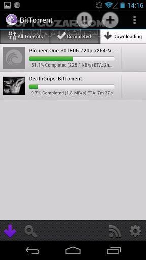 BitTorrent 5 5 4 Pro for Android 4 0 تصاویر نرم افزار  - سافت گذر