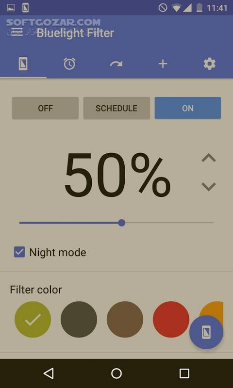 Bluelight Filter for Eye Care 2 9 28 for Android 4 0 تصاویر نرم افزار  - سافت گذر