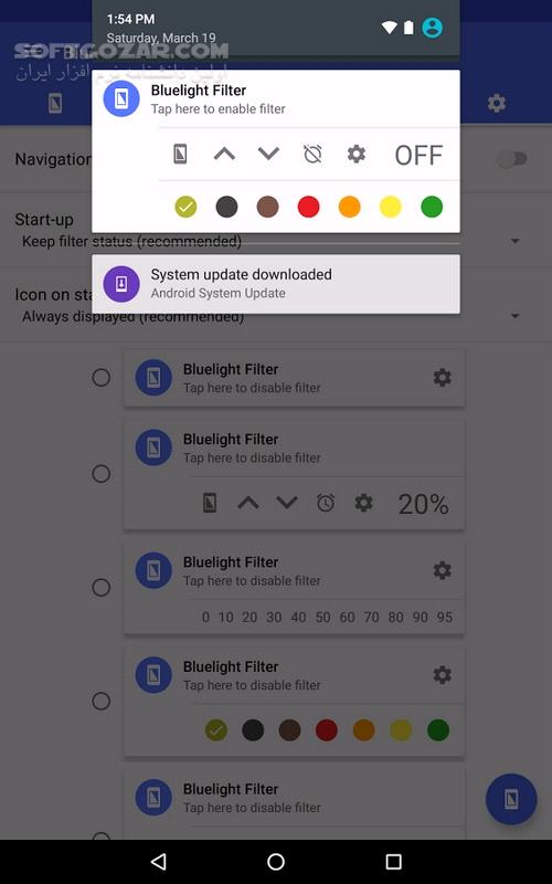 Bluelight Filter for Eye Care 2 10 1 for Android 4 0 تصاویر نرم افزار  - سافت گذر