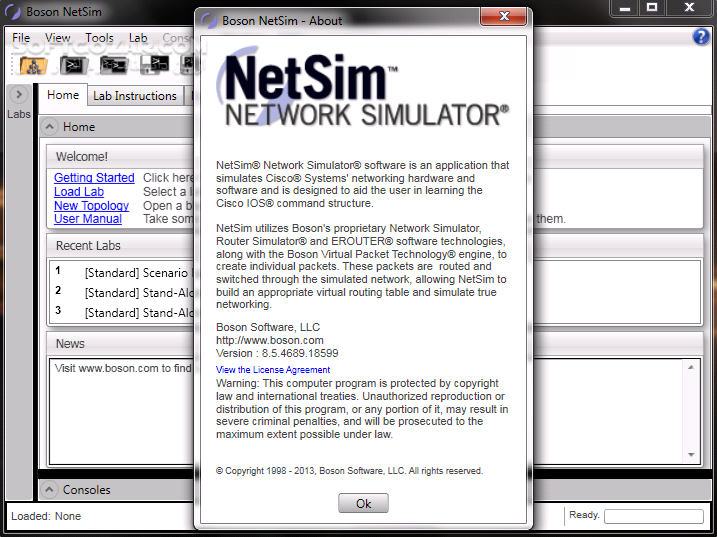 Boson NetSim for CCNP 9 9 5231 17264 Network Simulator 11 7 6487 20622 تصاویر نرم افزار  - سافت گذر