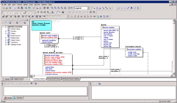 CA AllFusion ERwin Data Modeler r7 3 8 2235 SP2 Process Modeler r7 1 2 1259 تصاویر نرم افزار  - سافت گذر