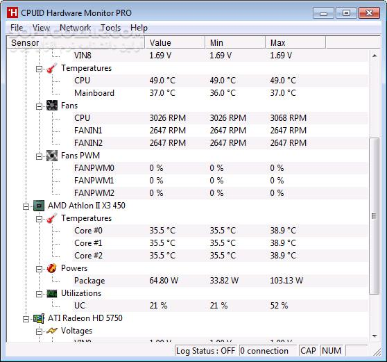 CPUID HWMonitor Pro 1 38 Portable Free 1 40 تصاویر نرم افزار  - سافت گذر