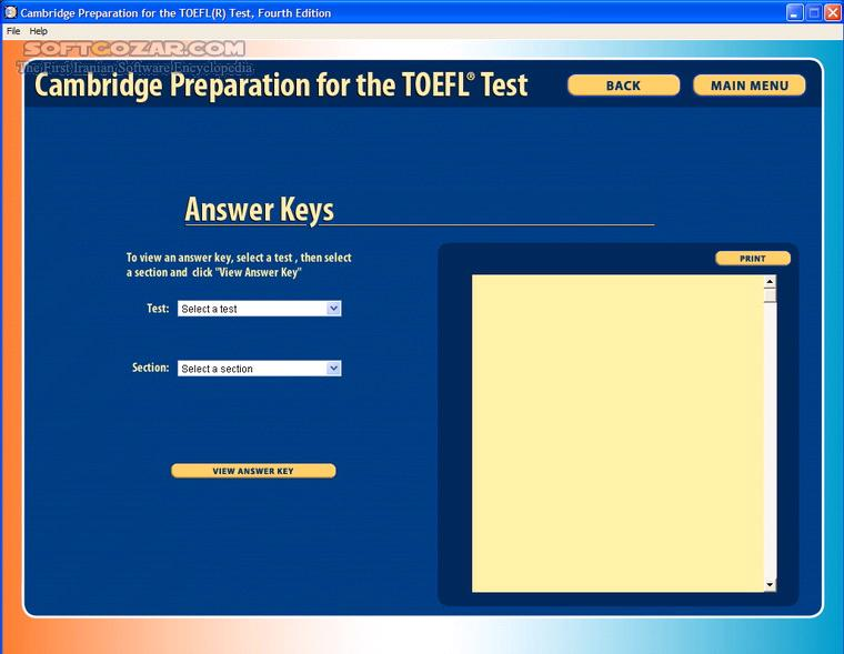 Cambridge Preparation For The TOEFL Test 4th Edition تصاویر نرم افزار  - سافت گذر