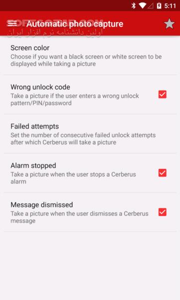 Cerberus anti theft 3 4 for Android 4 0 تصاویر نرم افزار  - سافت گذر