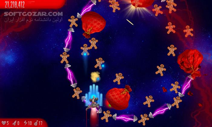 Chicken Invaders 5 Christmas Edition v5 05 تصاویر نرم افزار  - سافت گذر