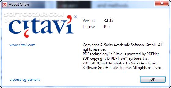 Citavi 6 3 0 0 5 7 1 0 5 4 0 2 5 0 0 11 4 5 0 11 تصاویر نرم افزار  - سافت گذر