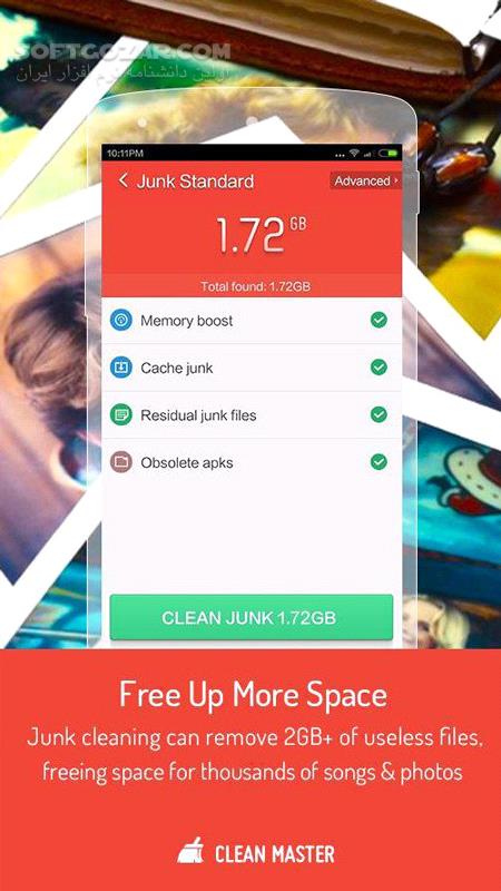 Clean Master 7 4 5 for Android 4 2 تصاویر نرم افزار  - سافت گذر