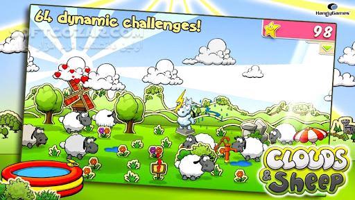 Clouds Sheep 1 v1 10 2 2 v1 4 2 for Android 2 3 تصاویر نرم افزار  - سافت گذر