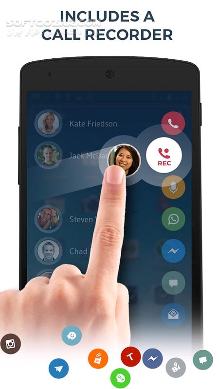 Contacts Phone Dialer Drupe 3 033 0027 For android 4 1 تصاویر نرم افزار  - سافت گذر