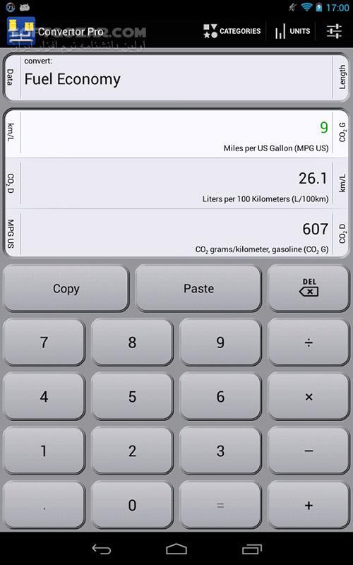 Convertor Pro 8 0 for Android 2 3 تصاویر نرم افزار  - سافت گذر