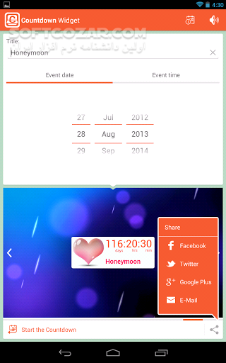 Countdown Widget 2 2 for Android 2 2 تصاویر نرم افزار  - سافت گذر