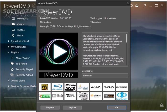 CyberLink PowerDVD Ultra 19 0 1807 62 18 0 2705 62 تصاویر نرم افزار  - سافت گذر