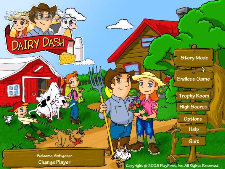 Dairy Dash تصاویر نرم افزار  - سافت گذر