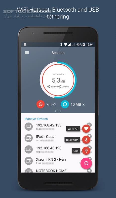 Data Sharing – Tethering PRO 2 2 4 For Android 4 1 تصاویر نرم افزار  - سافت گذر