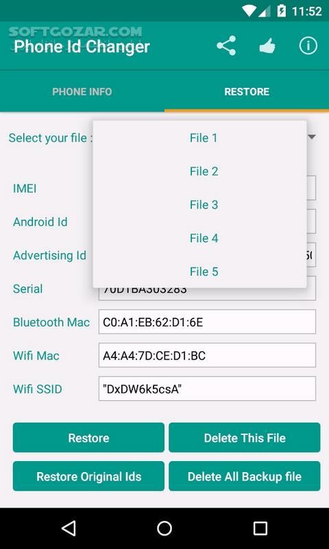 Device ID Changer Pro 4 1 for Android 4 3 تصاویر نرم افزار  - سافت گذر