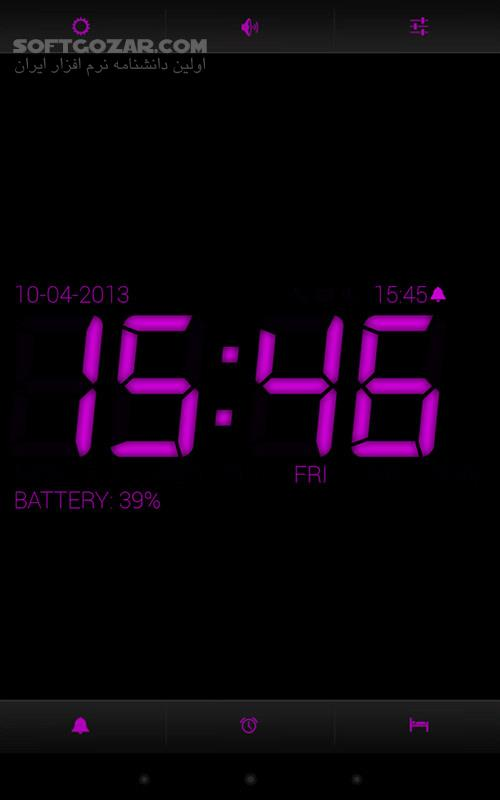 Digital Alarm Clock PRO 8 8 2 for Android 2 3 تصاویر نرم افزار  - سافت گذر