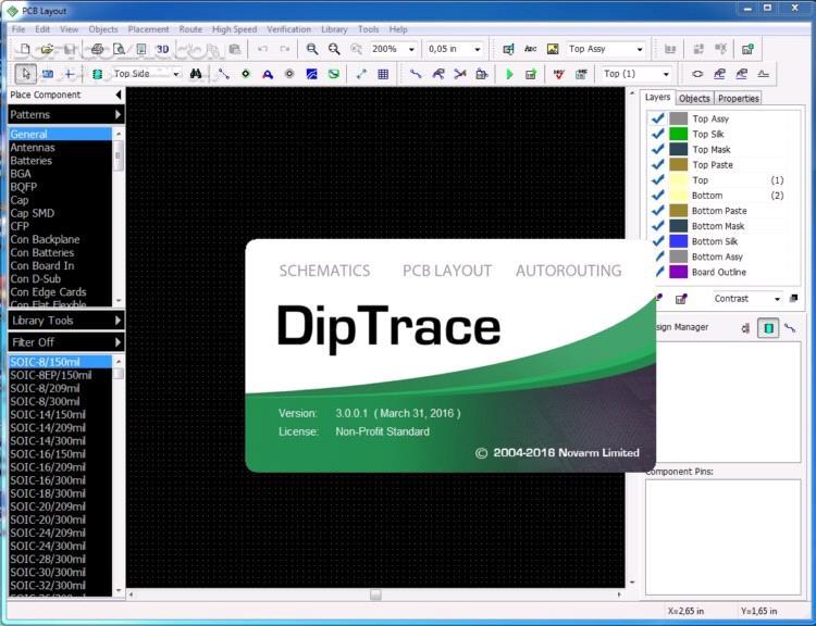 DipTrace 3 2 0 1 3D Libraries All Pattern All Components Tutorial تصاویر نرم افزار  - سافت گذر