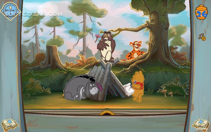 Disney Winnie the Pooh تصاویر نرم افزار  - سافت گذر