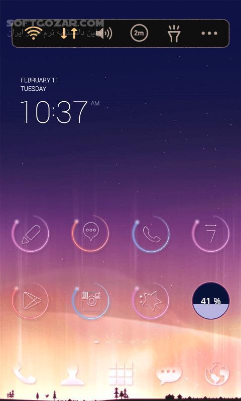 LINE Launcher 2 4 34 for Android 4 0 تصاویر نرم افزار  - سافت گذر