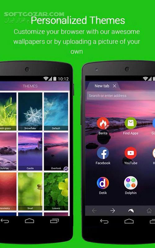 Dolphin Browser 12 1 2 22 Add ons for Android 2 3 تصاویر نرم افزار  - سافت گذر