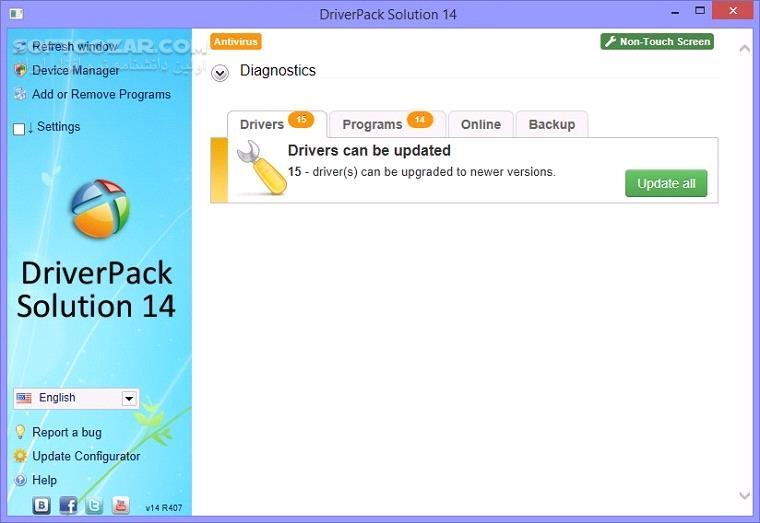 DriverPack Solution 17 9 3 19000 تصاویر نرم افزار  - سافت گذر