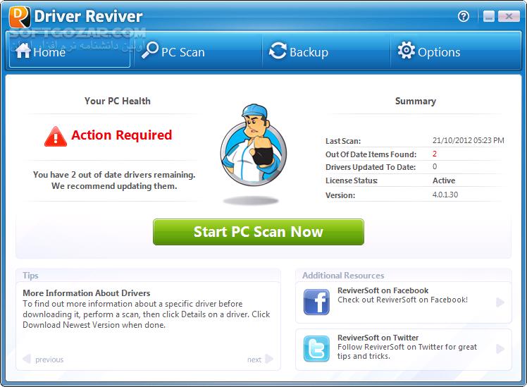 Driver Reviver 5 27 0 22 تصاویر نرم افزار  - سافت گذر