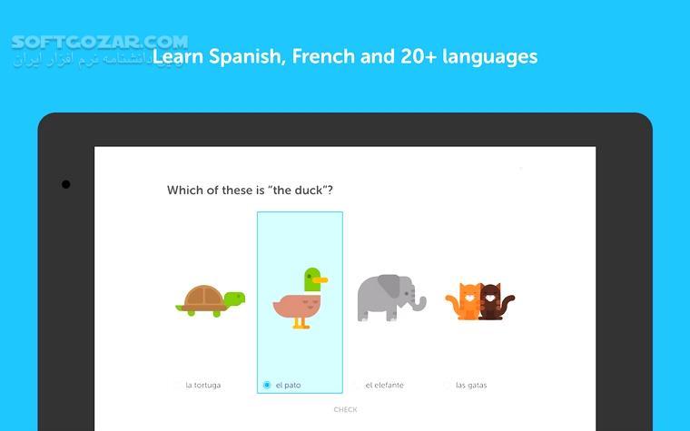 Duolingo Learn Languages 4 16 2 for Android 4 1 تصاویر نرم افزار  - سافت گذر