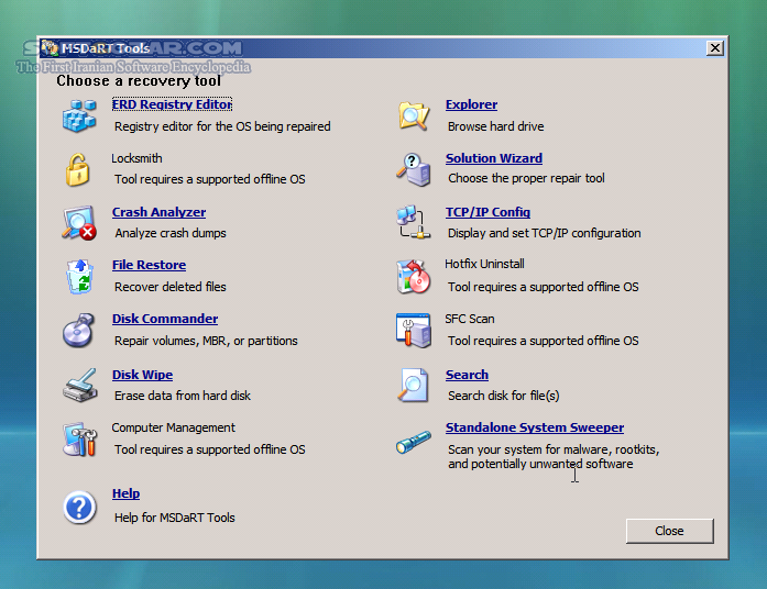 ERD Commander 5 0 6 0 6 5 x86 x64 تصاویر نرم افزار  - سافت گذر