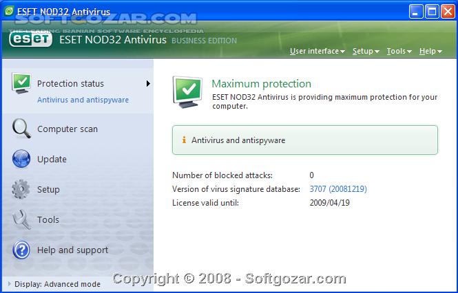 ESET NOD32 Antivirus Smart Security Business Edition 3 0 695 0 x86 x64 (Update 12000) 2015 07 27 تصاویر نرم افزار  - سافت گذر
