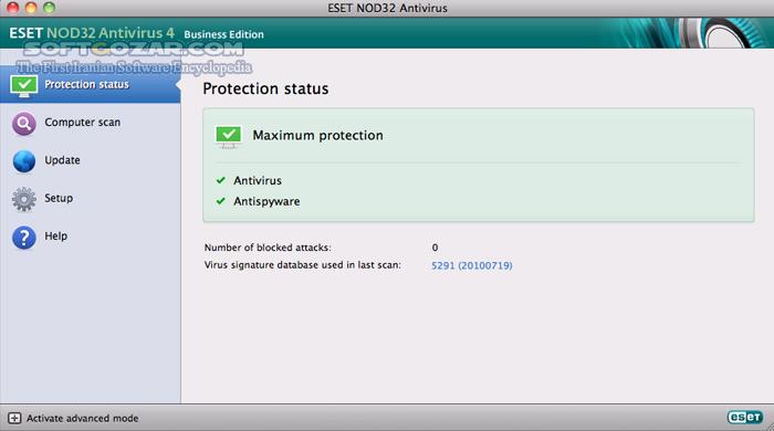 ESET NOD32 Antivirus 4 1 100 2 Business Edition for Mac OS X Retail تصاویر نرم افزار  - سافت گذر