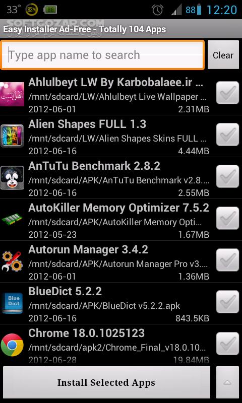 Easy Installer 3 1 4 for Android 2 3 تصاویر نرم افزار  - سافت گذر