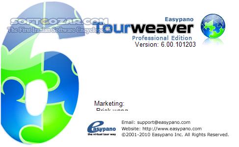 Easypano Tourweaver Professional 7 98 181016 PanoWeaver 10 02 181015 PanoWalker 2 00 111102 ModelWeaver 3 00 090729 تصاویر نرم افزار  - سافت گذر