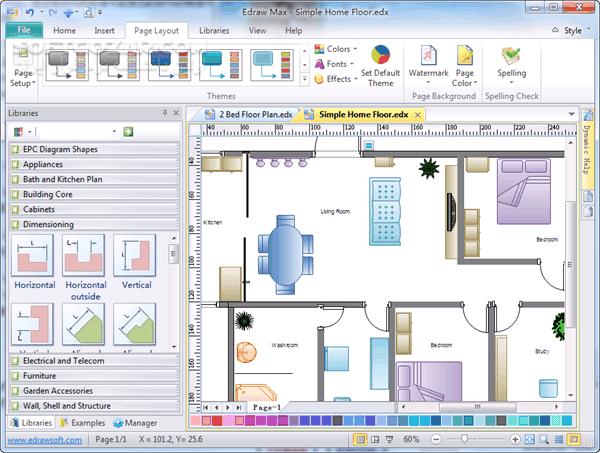 Edrawsoft edraw max 9 3 win v8 4 mac portable for Home design free software download