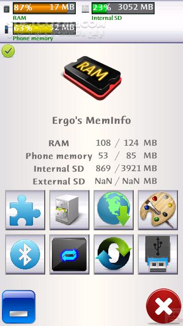Ergos Memory Info 2 4 for Symbian تصاویر نرم افزار  - سافت گذر