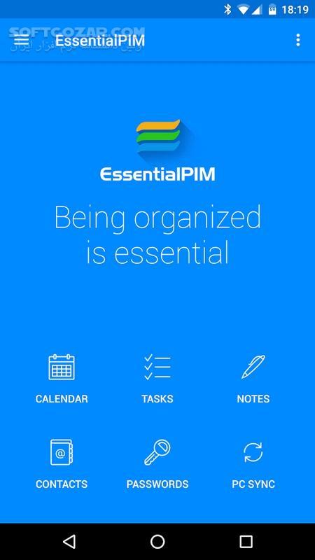 EssentialPIM Pro 5 5 1 for Android 4 0 3 تصاویر نرم افزار  - سافت گذر