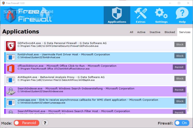 Free Firewall 2 5 1 تصاویر نرم افزار  - سافت گذر