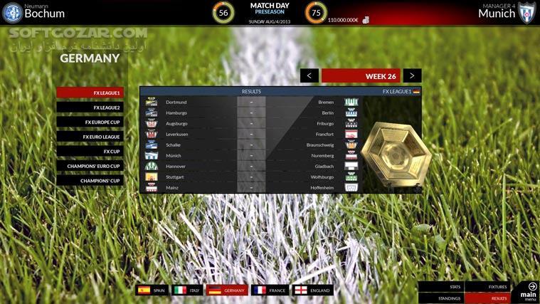 FX Football The Manager for Every Football Fan تصاویر نرم افزار  - سافت گذر