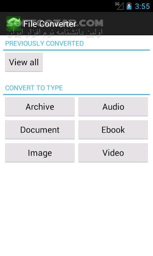 File Converter 5 0 12 for Android 2 1 تصاویر نرم افزار  - سافت گذر