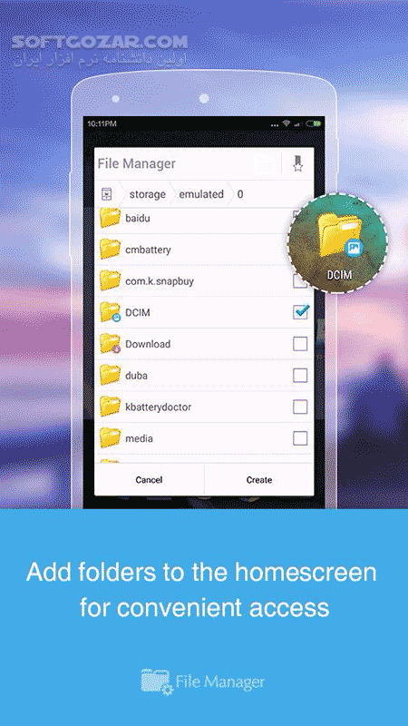 File Manager 2 7 7 HD 3 5 0 for Android 2 3 تصاویر نرم افزار  - سافت گذر