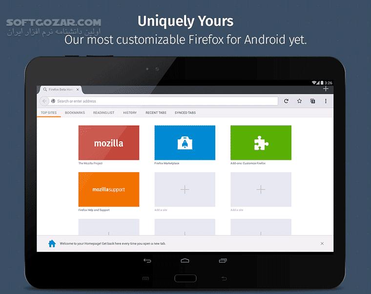 Firefox 68 3 Nightly 68 3a1 for Android 4 0 تصاویر نرم افزار  - سافت گذر