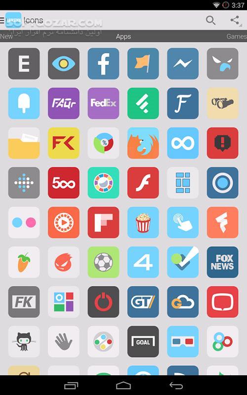Flatastico 5 4 for Android 4 0 تصاویر نرم افزار  - سافت گذر