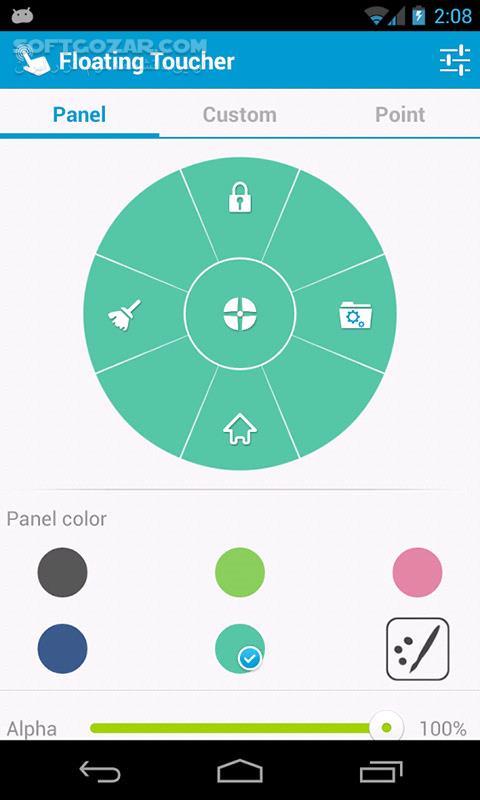 Floating Toucher Premium 3 1 for Android 2 3 تصاویر نرم افزار  - سافت گذر