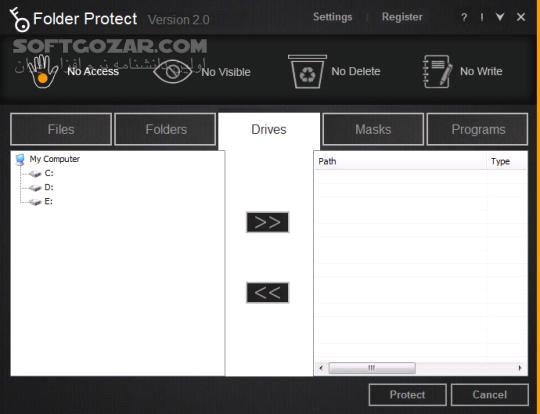 Folder Protect 2 0 7 تصاویر نرم افزار  - سافت گذر