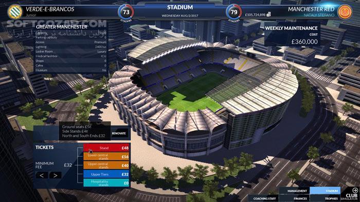 Football Club Simulator 18 تصاویر نرم افزار  - سافت گذر