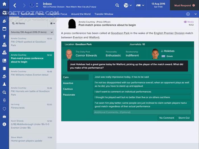Football Manager 2017 تصاویر نرم افزار  - سافت گذر