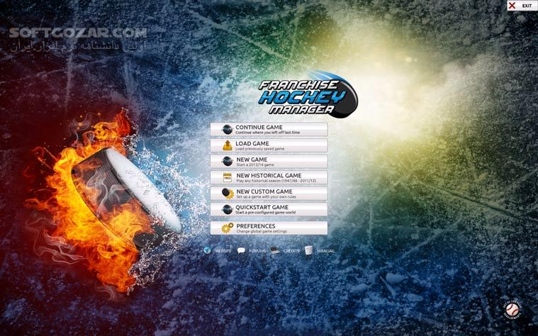 Franchise Hockey Manager 2014 تصاویر نرم افزار  - سافت گذر