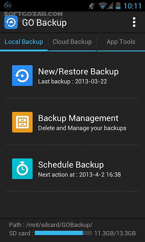 GO Backup Pro Premium 3 51 for Android تصاویر نرم افزار  - سافت گذر