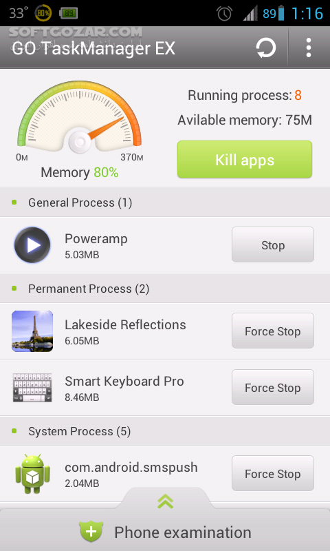 GO Cleaner Task Manager PRO 3 91 for Android تصاویر نرم افزار  - سافت گذر