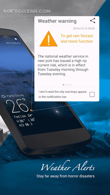 GO Weather Premium 6 163 for Android 4 1 تصاویر نرم افزار  - سافت گذر